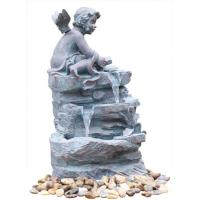 Cheap Angel On Rock Waterfall Resin Garden Fountains with LED Light Anchor Falls Cascading wholesale