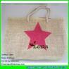 LDZB-019 cheap wholesale tote bag star printed paper beach straw handbags
