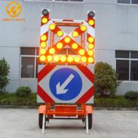Buy cheap Road Construction Mobile Solar Traffic Signal Directional Arrow / Cross Board Trailer from wholesalers