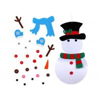 Cheap Wall Hanging Xmas Gifts DIY Snowman Felt Christmas Decorations With 31pcs Ornaments wholesale