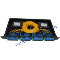 Cheap Pon / Lan Rack Mount Fiber Plc Splitter 1x2 , 1x4 , 1x8 , 1x16 , 1x32 , 1x64 wholesale