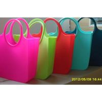 Cheap Candy Silicone Shopping Bag Custom Waterproof / Silicon Beach Bag wholesale
