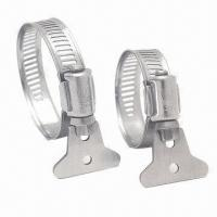 Cheap American and German Style Shrimp Tail Hose Clamps, Customized Specifications are Accepted wholesale