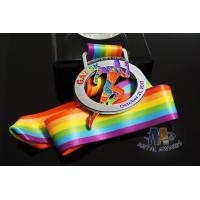 Buy cheap M -23 Cut Out Design By Clients Custom Sports Medals With Sublimated Ribbon from wholesalers