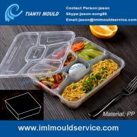 Cheap multi-compartment thin wall disposable food container mould, lunch box 5 compartment mold wholesale