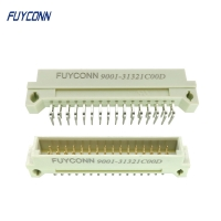 Cheap Right Angle PCB Male 2*16P 32pin 2 Rows DIN 41612 Connector W/ 2.54mm wholesale