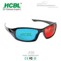 Cheap Red and Blue 3D Eyewear Anaglyph 3D Glasses with 1.5 mm Acrylic Filter Lens wholesale