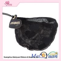 Embroidery label Black Lace Drawstring Bags For Perfume Bottle ODM accepted