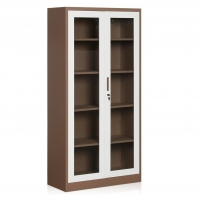Cheap Glass Swing Door H1850 Steel Lateral Filing Cabinet Steel Display Cabinet KD Structure wholesale