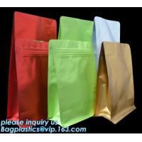 Cheap Coffee Stand Up Zip Lock Bags Aluminum Foil Food Packaging Metallized Standing wholesale