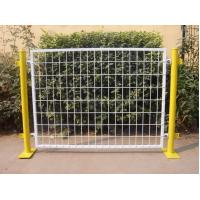 China Plastic Coated Temporary Welded Wire Mesh Fence Panels 50*100 MM Mesh Size on sale