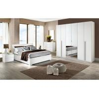 China White High Gloss Bedroom Furniture Sets 6 Door Mirrored Wardrobe Acid Resistant on sale