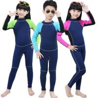 China Cheap with good quality kids wetsuits bule sky color 2mm neoprene with nylon wear comfortable on sale