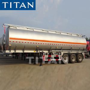 China TITAN 3axle 4 Compartments 42cbm 50cbm Diesel Fuel Oil Aluminum Alloy Tanker Truck Semi Tank Trailer on sale