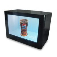 Cheap Digital Signage LCD Video Wall Advertising Transparent Touch Screen Monitor Showcase Box wholesale