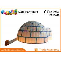 Cheap PVC Coated Nylon Blow Up Dome Tent Marquee / Inflatable Igloo With LED Lighting wholesale