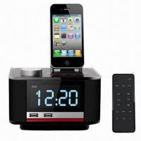 Cheap Docking Station Speaker for iPod/iPhone, with FM Radio and Alarm Clock Speaker System  wholesale