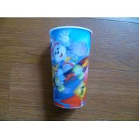 Cheap PLASTIC LENTICULAR Promotional 3D Lenticular Drinking Cup lenticular PP water cup for Kids wholesale