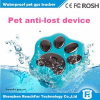 Cheap cheap mini long distance gps tracker for dogs cats pets with smart rolling LED light wholesale