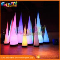 Cheap 3m Height Oxford Inflatable LED Lighting Cone For Event / Party Decoration wholesale
