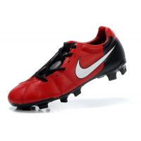 Cheap Most Popular Black/Red TPU Sole Soccer Shoes  wholesale