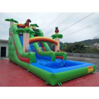 Cheap Pvc Tarpaulin Kids Inflatable Water Slide With Pool / Commercial Bounce House Water Slide wholesale