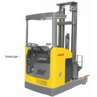 Narrow Aisle Reach Truck Forklift 1.5 Ton Seated Type For Warehouses / Supermarkets