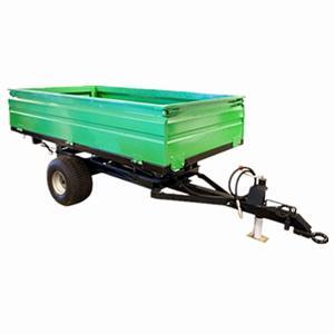 Cheap 2wheel Tractor end dump trailer  load capacity 1ton 2ton 3ton 4ton 5ton wholesale