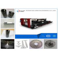 Cheap Round Square Pipe Metal Laser Cutting Machine , Fiber Optic Laser Cutter Speed Adjustable wholesale