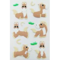 Cheap Personalized Farm Animal Stickers , Promo Horse Shape Small 3d Stickers wholesale
