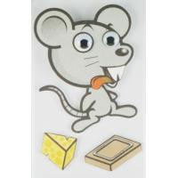 Cheap Big Animal Layered 3D Cartoon Stickers For Children Custom Offset Printed wholesale