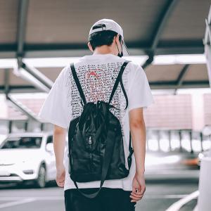 Cheap Harajuku high school students backpack rope simple Joker bundle mouth multi-purpose backpack wholesale