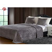 Cheap Diamond Embossed Plush Fur Blanket PV Plush King Size Bedding Sets Durable wholesale