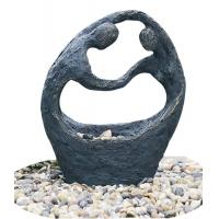 """Cheap Happy Couple Small Garden Fountains , 26"""" Lighted Water Fountain for sale"""