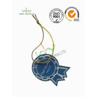 Cheap Multi Colored Clothing Hang Tags With Metallic String Round Corner Shape wholesale