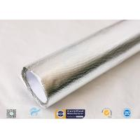 Cheap 25oz Sliver Aluminium Foil Laminated Fiberglass Fabric Non Combustible wholesale