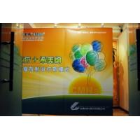 Cheap Adjustable custom 110g self adhesive PP paper or 150g photo paper pop up banner stands wholesale
