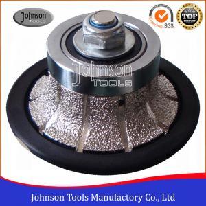 Cheap No.2 Half Bullnose Vacuum Brazed Diamond Tools For Edging Stone wholesale