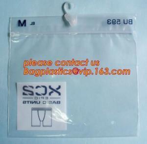 Cheap Underwear Bag White Hanger Pvc Waterproof Bag With Zip Lock Beachwear wholesale