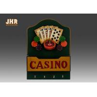 Cheap Casino Wall Decor Antique Wood Wall Sign Wooden Envelope Holder Decorative Wall Plaques wholesale
