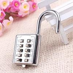 Cheap Mini Push Button Code Resettable Combination Padlock 10 Pin Sports Locker wholesale