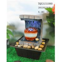 Cheap Polyresin Water Fountain Hand Painting With Led Lights For Home Decoration wholesale