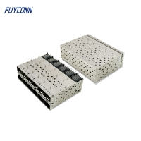 Cheap 240pin Female 2*6 12 Ports Press Pin Fit SFP+ Cage Connector wholesale