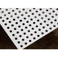 Round Decorative Metal Sheets , Decorative Perforated Aluminum Sheet High Precision Pattern