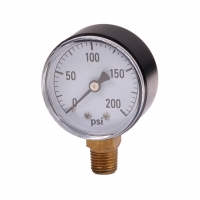 "Cheap Water pressure gauge with 2"" dial face. wholesale"