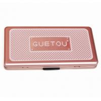 Cheap Eye Showder Rectangular Tin Box with foam and mirror , cosmetic tin box with hinged lid wholesale