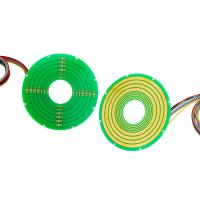 Cheap 5 Circuits Pancake Slip Ring Transferring 12A Current and Ethernet Signal with Reliable Performance wholesale