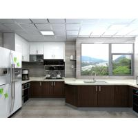 Cheap Modern Black / White Painting Wood Veneer Kitchen Cupboards Big Size For Home wholesale