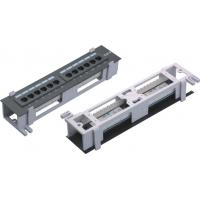 Cheap 8 12 Port 10 wall mount patch panel , CAT.5E CAT.6 small mini patch panel  YH4006 wholesale