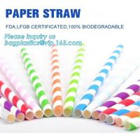 Cheap Eco Friendly Disposable Dinnerware Biodegradable Paper Drinking Straw Paper Straw Bendy wholesale